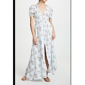LoveShackFancy Stacy Maxi Dress Button Up Duster